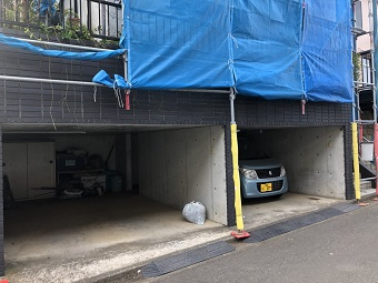 相模原市 足場工事(車庫)